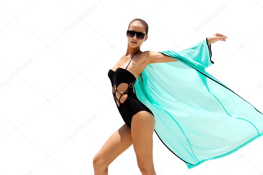 Traje Sol Mujer Playa Turquesa De Baño Gafas Baila Y En Negro OPTkZiuwlX
