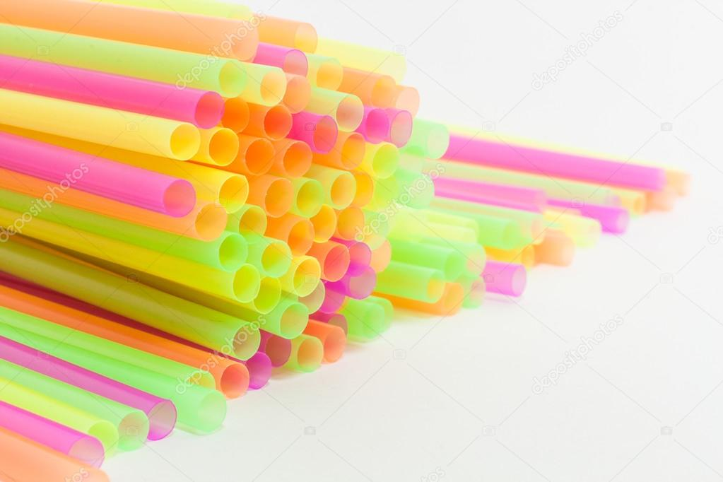 Vibrant colors drinking straws plastic type
