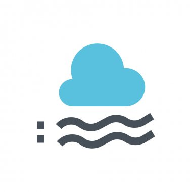Foggy, weather line icon. Pixel perfect fully editable vector icon suitable for websites, info graphics and print media. clip art vector