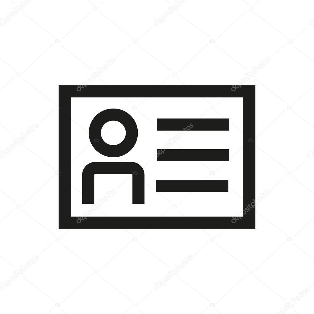 Profil Icne De Ligne Carte Visite Vecteur Entirement Ditables Parfait Adapt Aux Sites Web Des Infos Graphiques Et Mdias Imprims