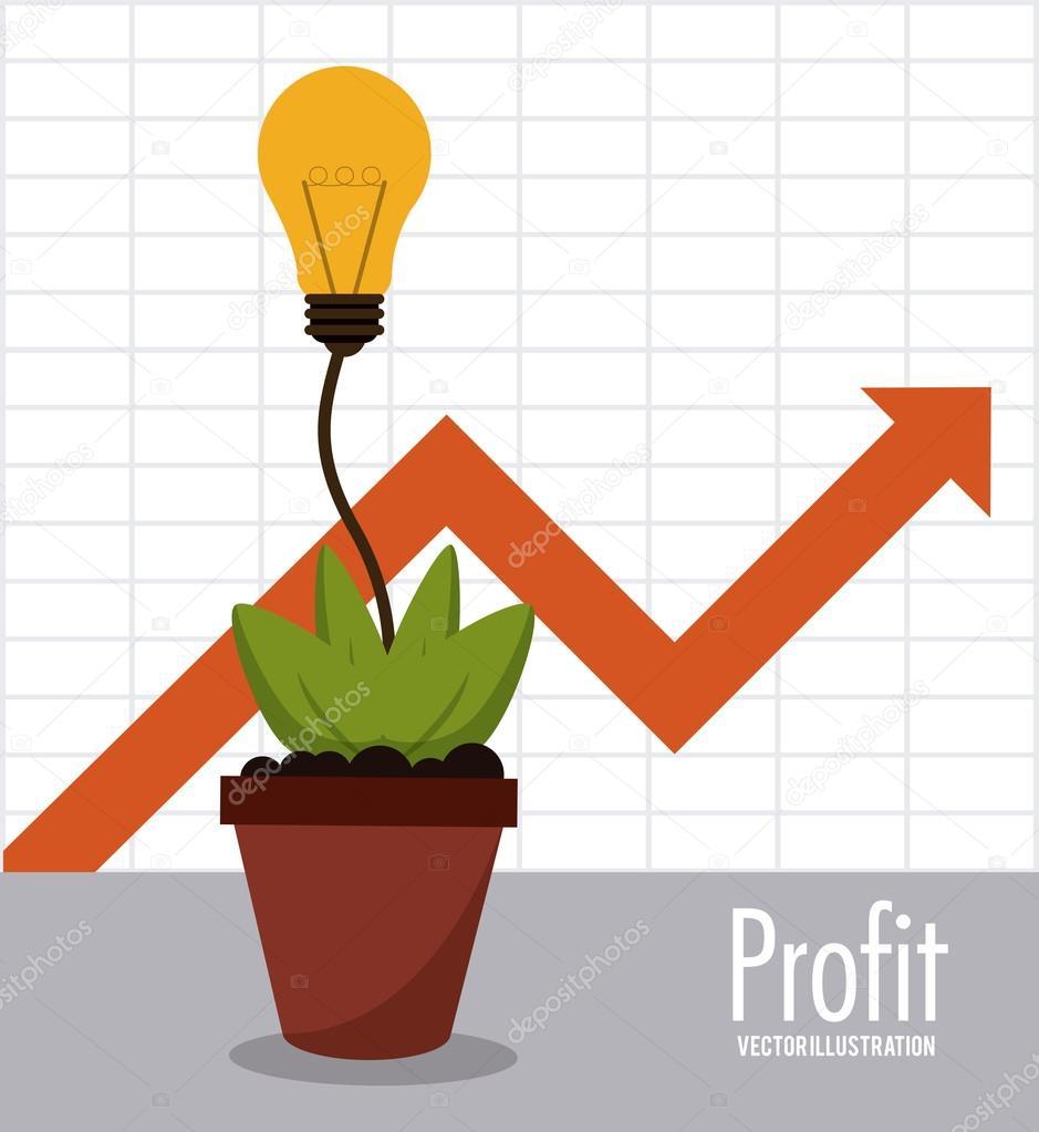 Profit icon design