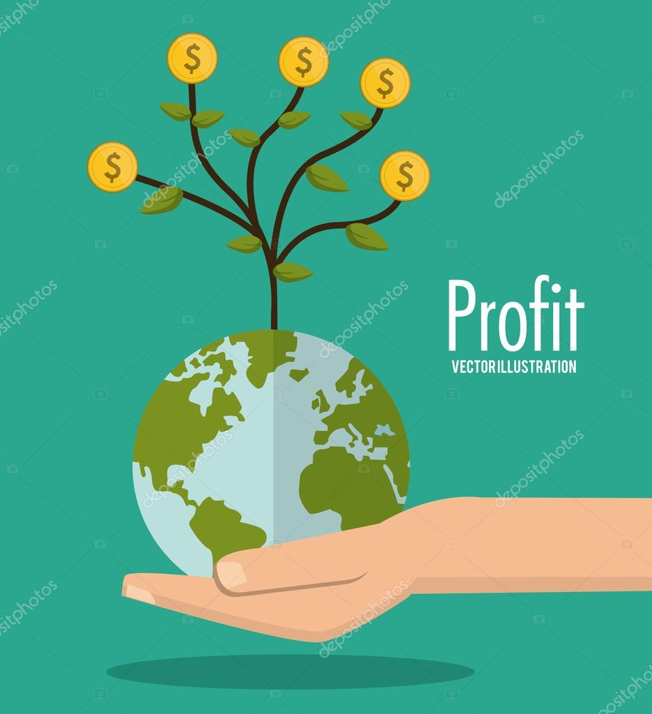 Profit icon design