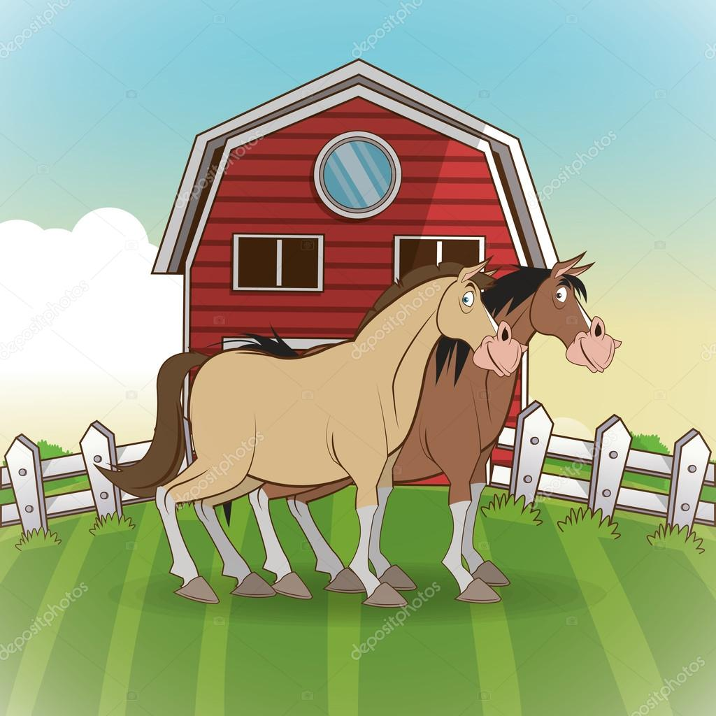 Fattoria animali cartoni animati illustrazione vettoriale