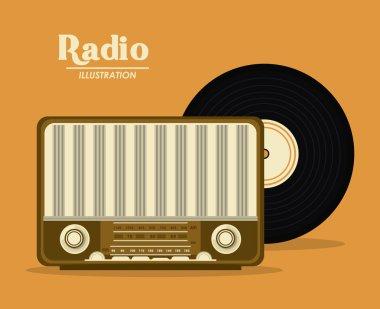 Retro radio design, Vector illustration