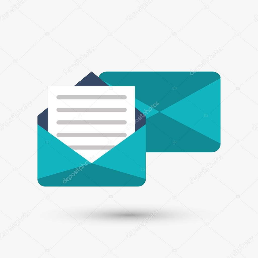 Envelope vector design real clipart and vector graphics envelope icon design vector illustration stock vector jemastock rh depositphotos com envelope vector design free download stopboris Image collections