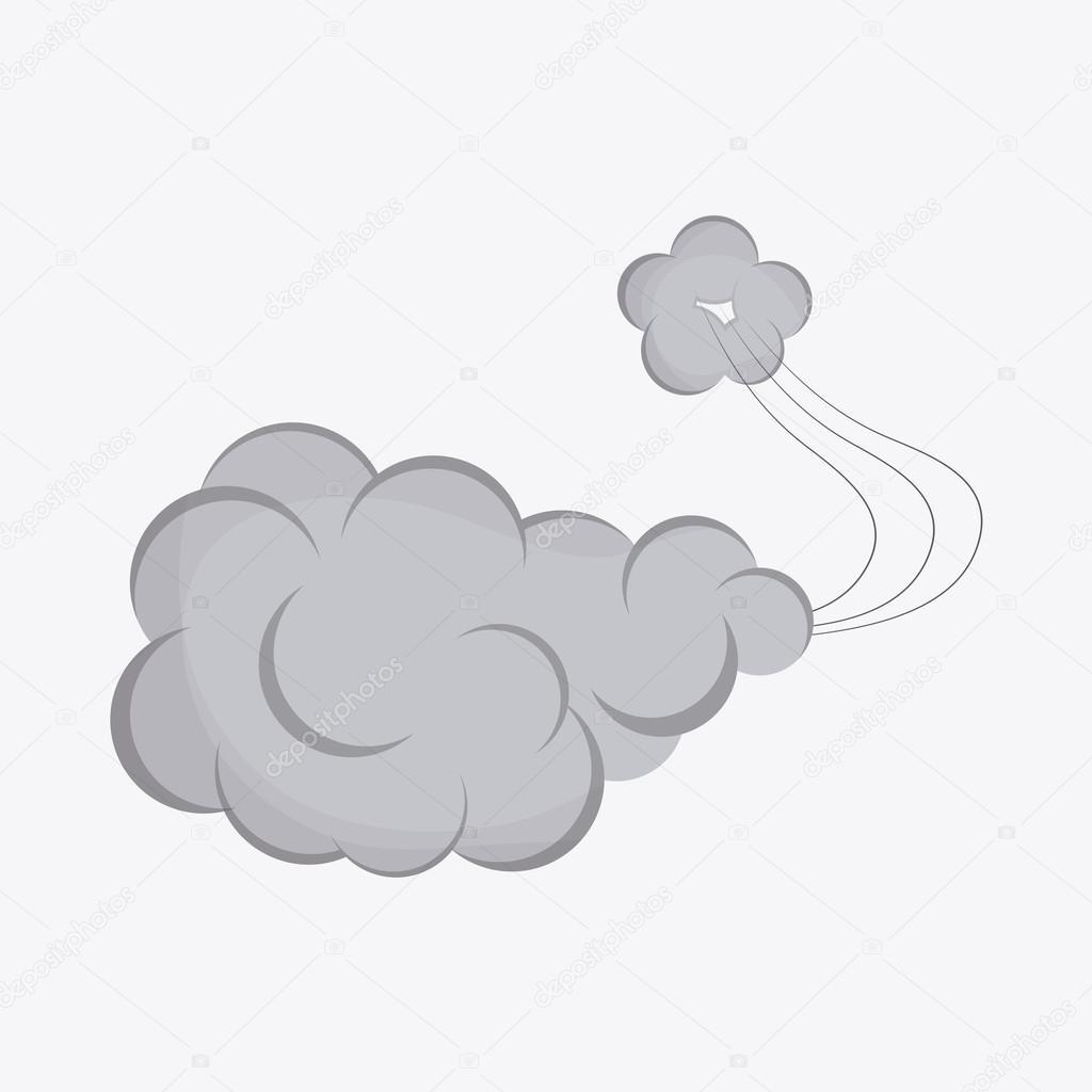 アイコンのデザインの煙ベクトル イラスト ストックベクター
