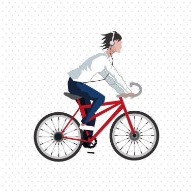 Graphic design of Bike lifestyle, vector illustration