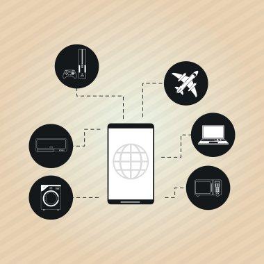 set of technology  icons design, vector illustration
