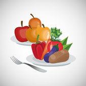 Zdravé jídlo design. organické potraviny. přírodní produkt