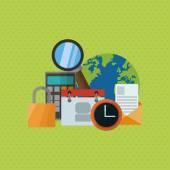 Multimedia design. technology icon. online  concept, vector illustration