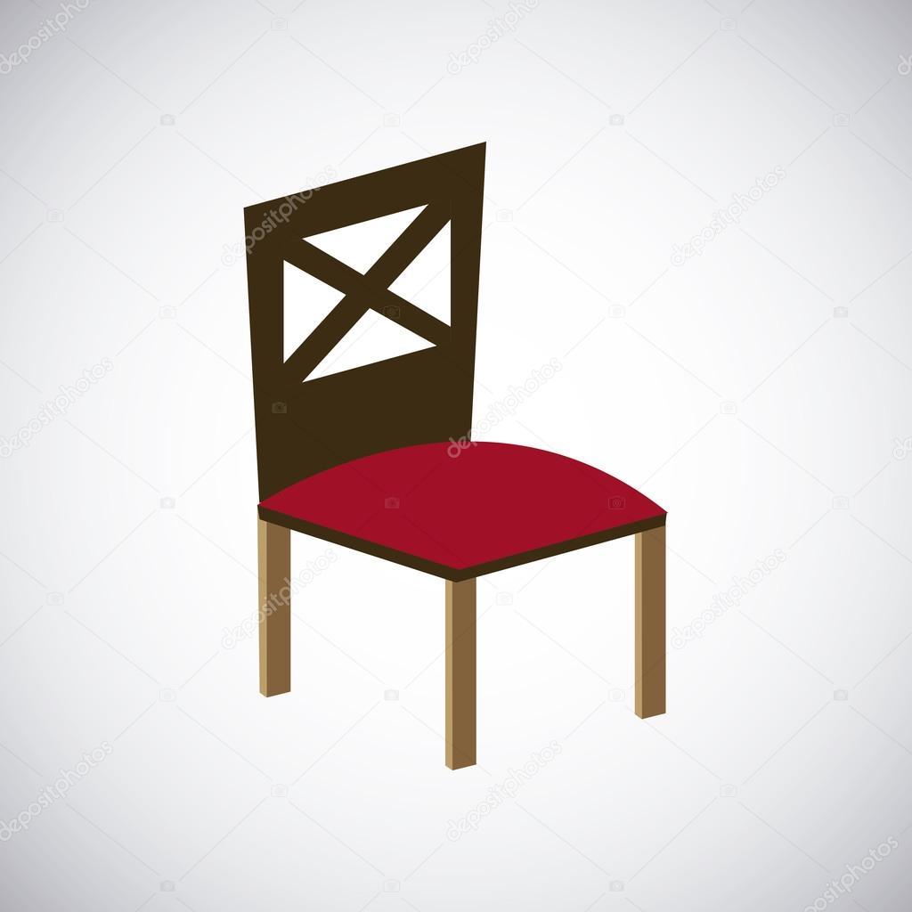 Holz Stuhl Design. Sitz Symbol. Möbel Konzept, Vektor