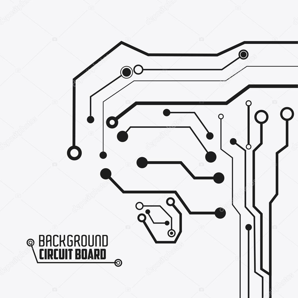 Circuit Board Design Technology And Electronic Concept Stock Black White Images With Icon Vector Illustration 10 Eps Graphic By Jemastock