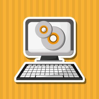 Flat illustration about computer design