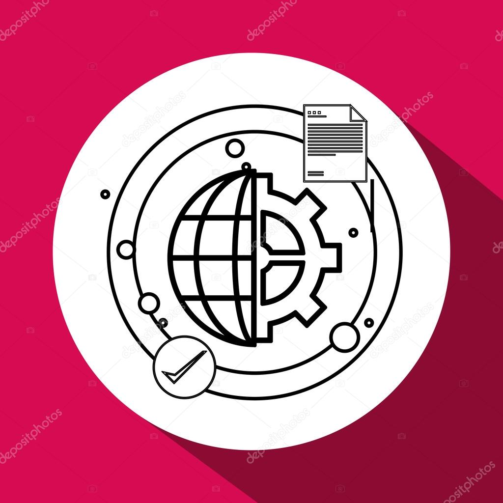 Call center design. telemarketing icon. support concept
