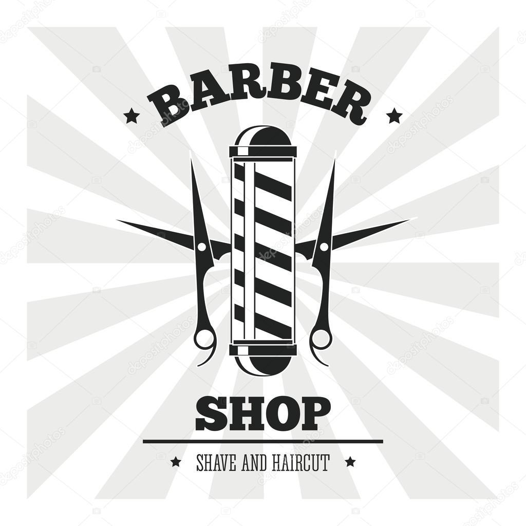 Barber shop design hair salon stylist icon vector - Barber vs hair salon ...