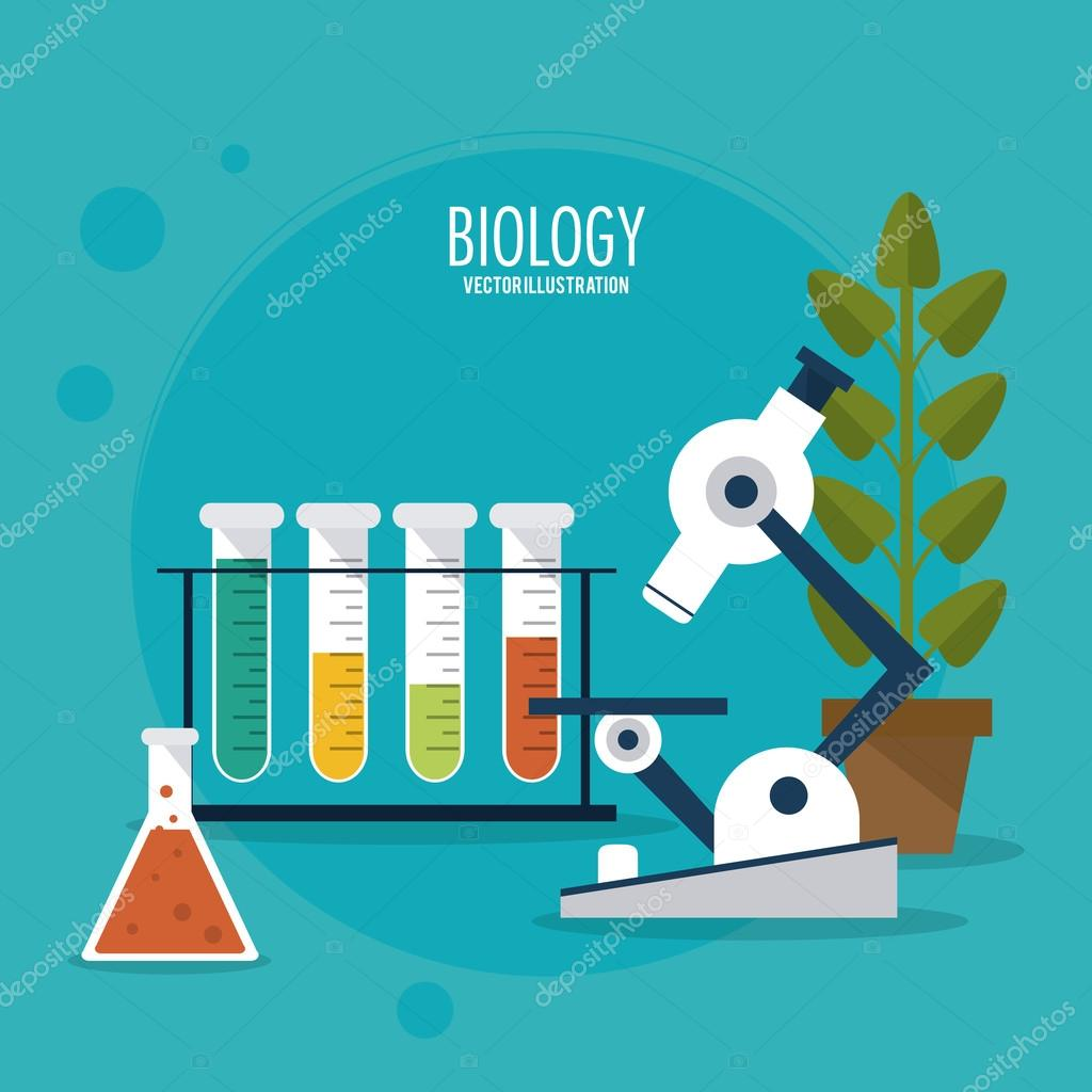 biology design lab icon flat illustration vector