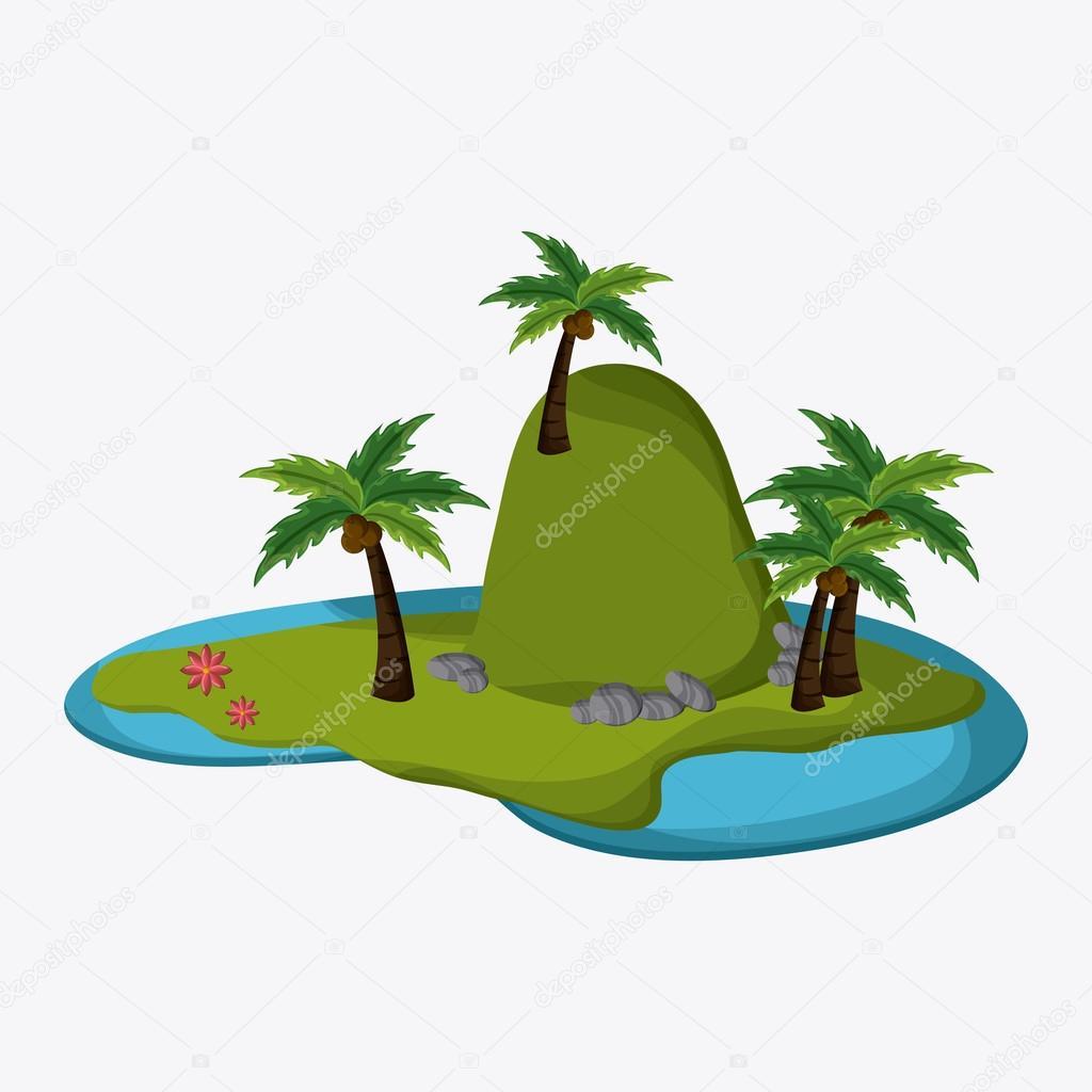 Beach design. Summer icon. Colorful illustration