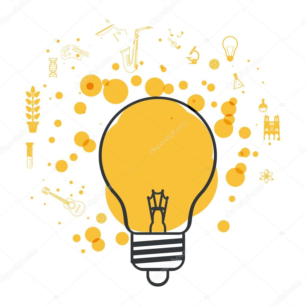 idea design light bulb icon colorful illustration archivo