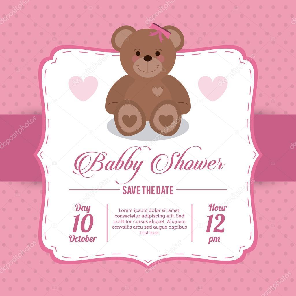 Invitaciones Para Baby Shower Niño De Ositos Diseño De Ducha Del