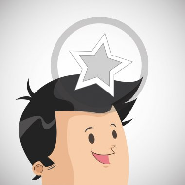 Success design. Winner icon. Flat illustration, vector graphic
