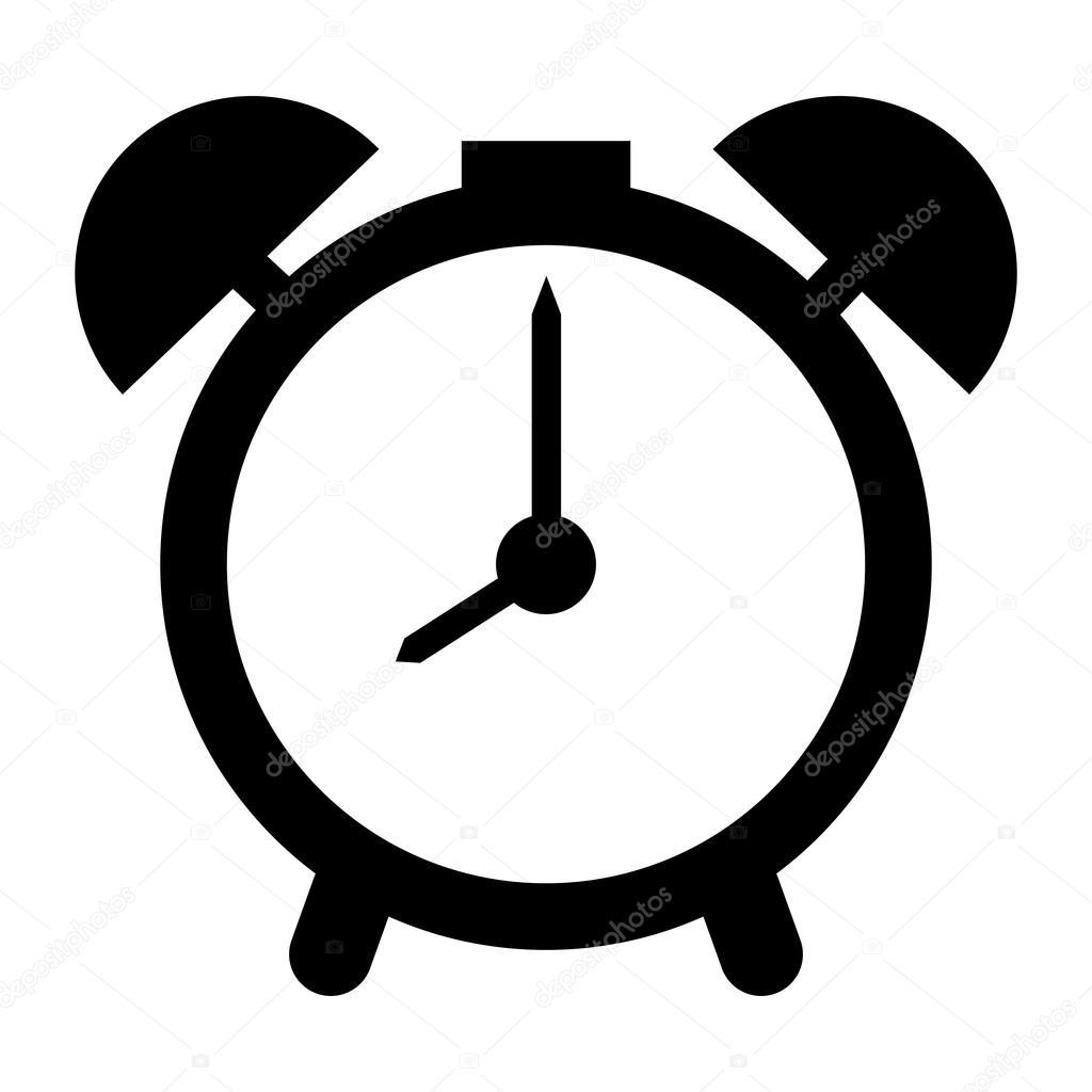 analog alarm clock vector illustration stock vector jemastock rh depositphotos com alarm clock vector png alarm clock vector freepik