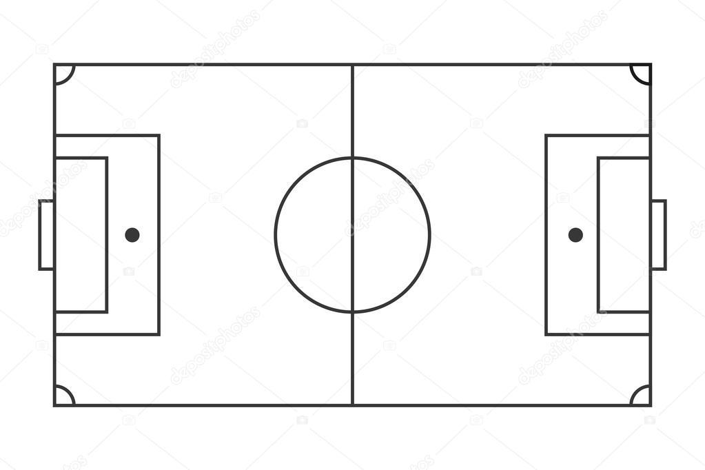 horizontale voetbalveld  u2014 stockvector  u00a9 jemastock  114178634