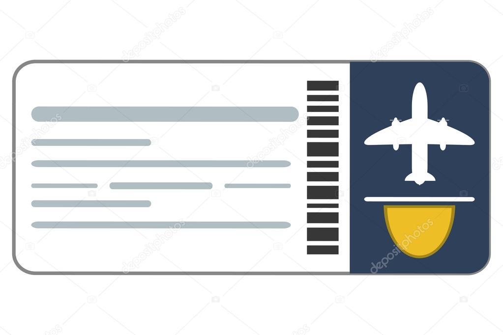Flugzeug-Ticket-Symbol — Stockvektor © jemastock #114179018
