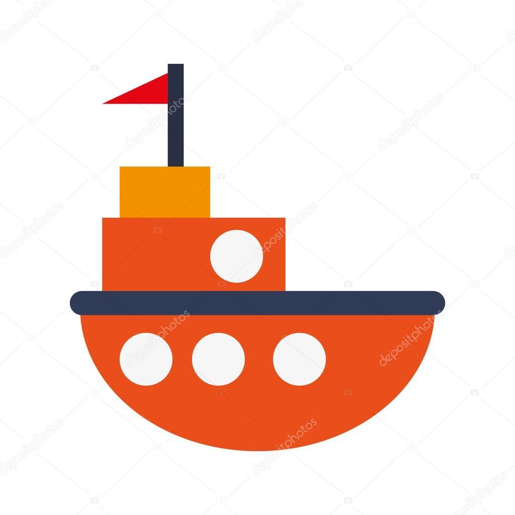 toy fishing boat icon — Stock Vector © jemastock #114394776