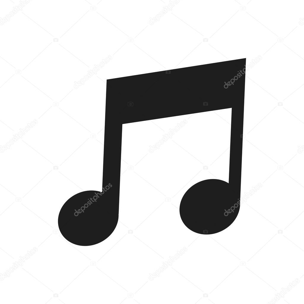 Eighth Note Icon Stock Vector Jemastock 114579922
