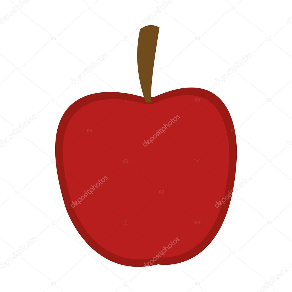 Bütün elma simgesi — Stok Vektör © jemastock #114583804