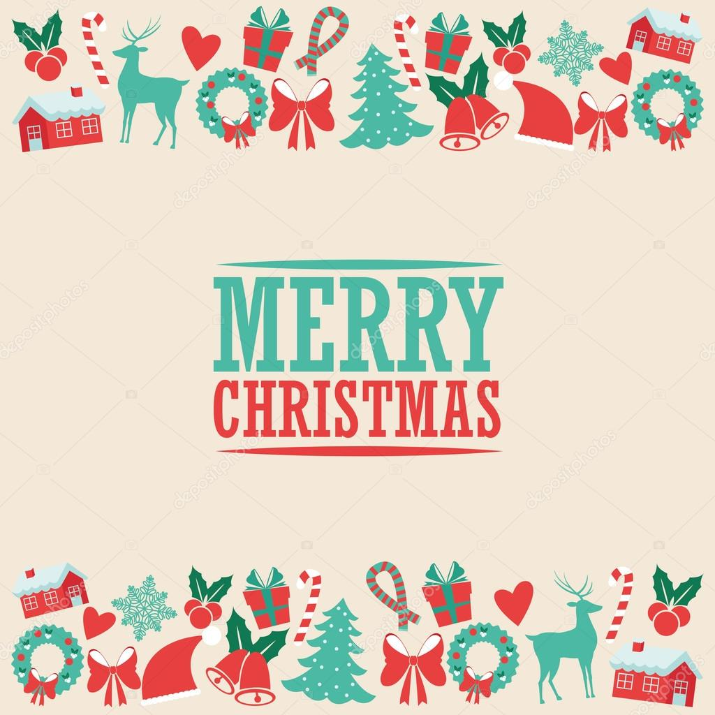Decoration icon set. Merry Christmas. Vector graphic — Archivo ...