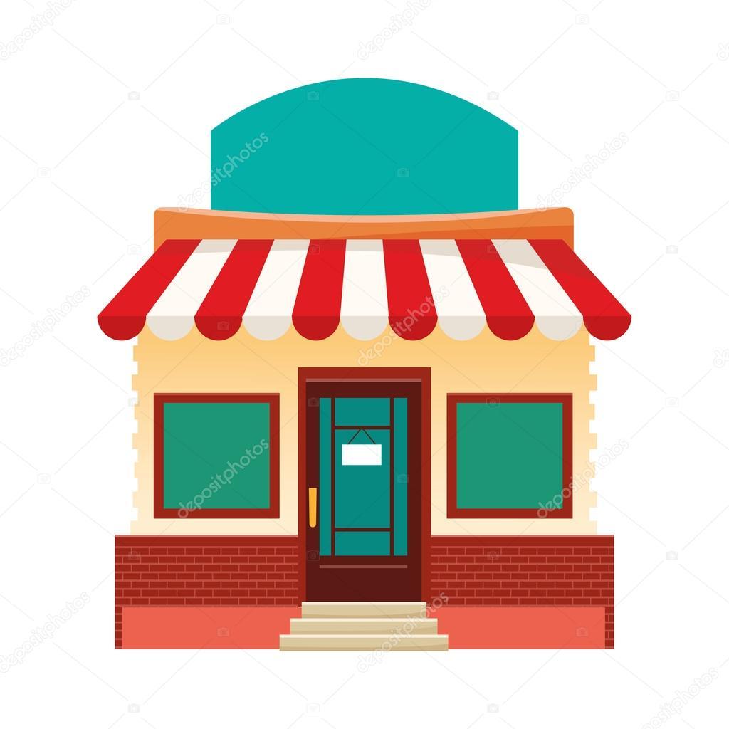 4f163b148ef icono de fachada colorida tienda — Vector de stock © jemastock ...