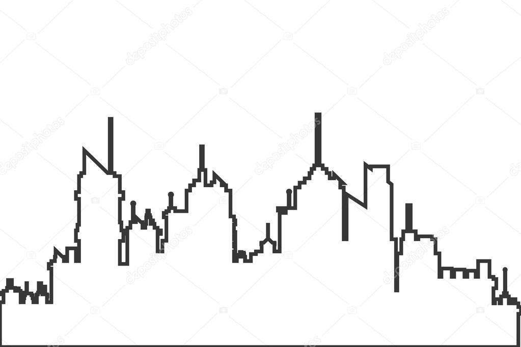 city skyline outline simple - photo #35