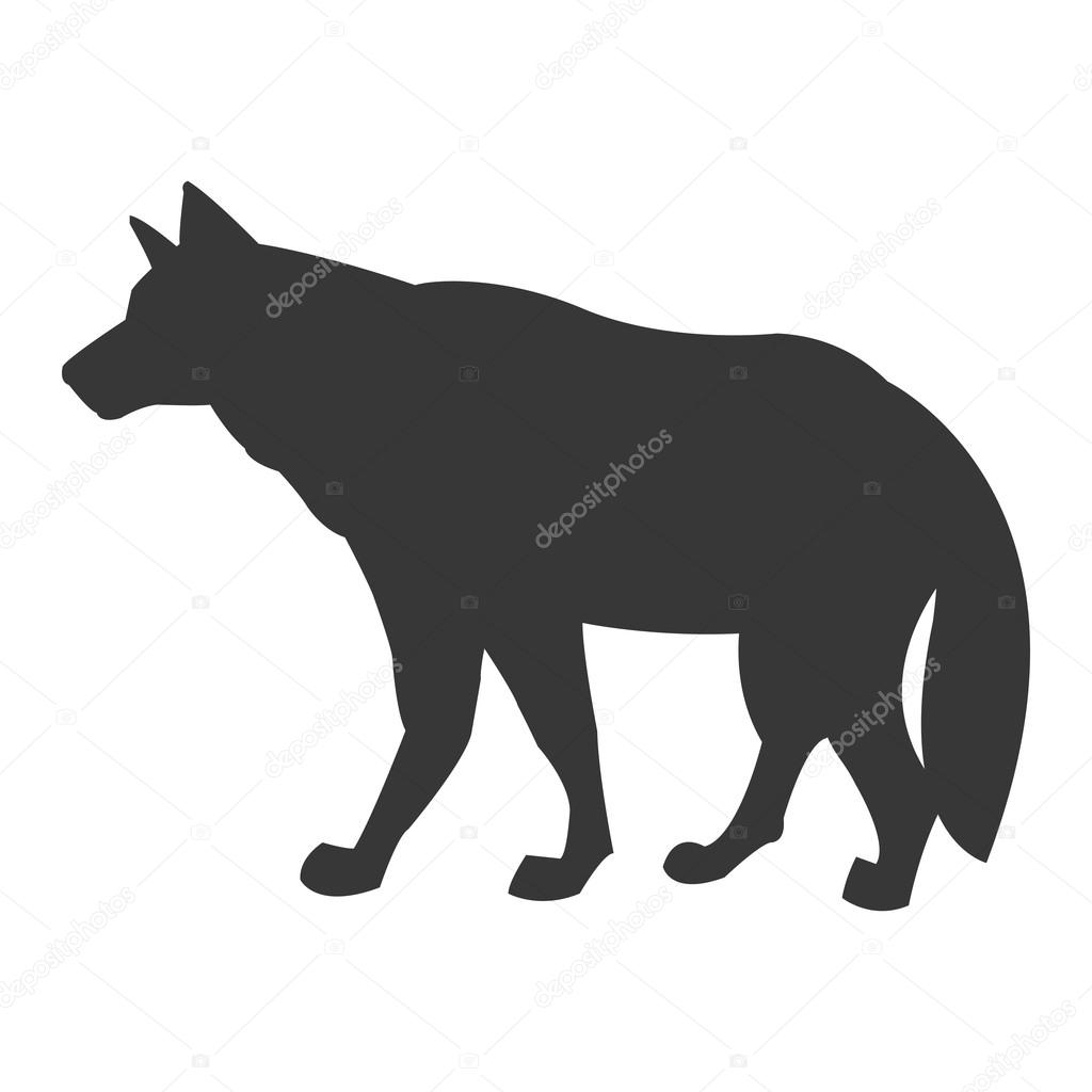 ícone de silhueta lobo vetores de stock jemastock 115250276