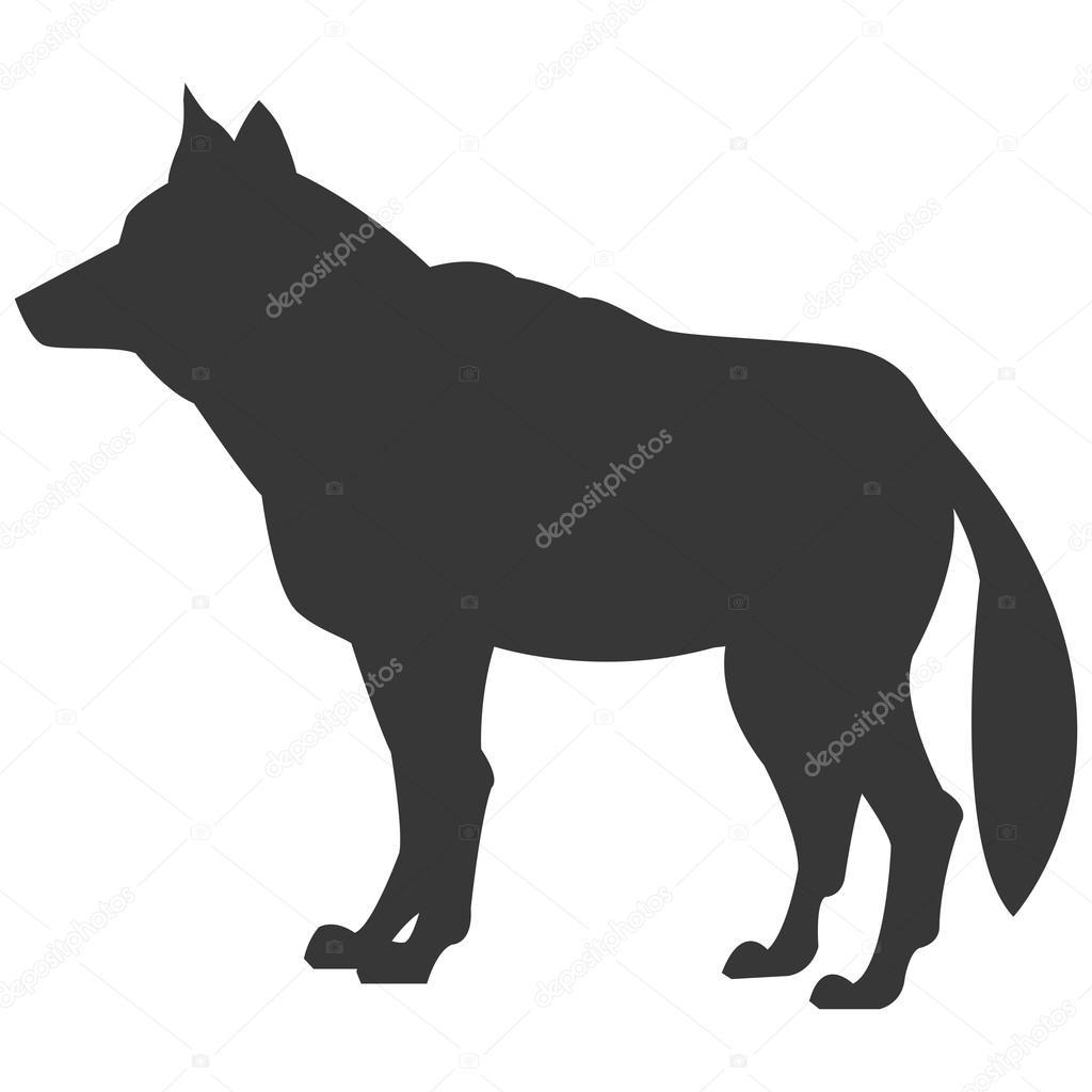 ícone de silhueta lobo lateral vetores de stock jemastock 115250326