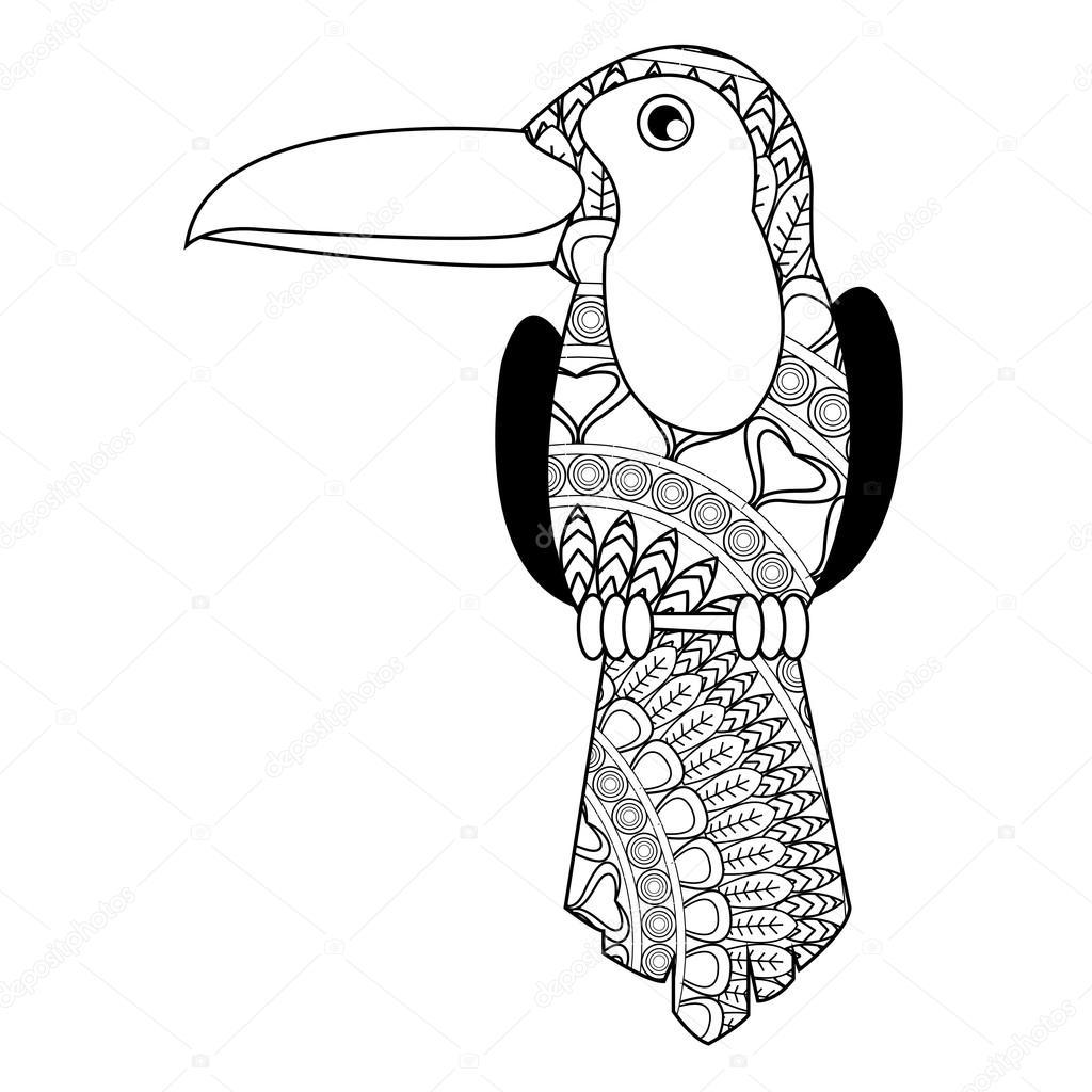 icono de mandala de tucán — Vector de stock © jemastock #115250470