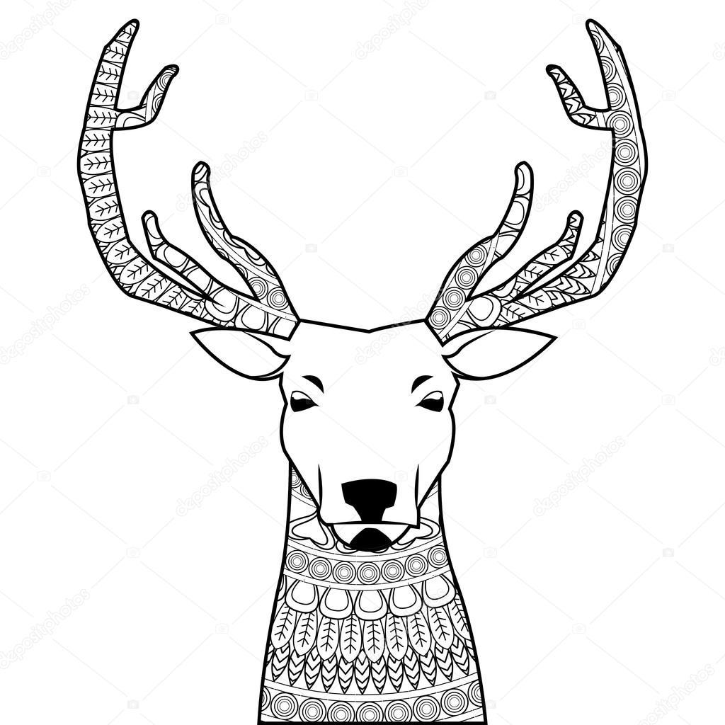 Kleurplaten Dieren Herten.Herten Mandala Pictogram Stockvector C Jemastock 115250516