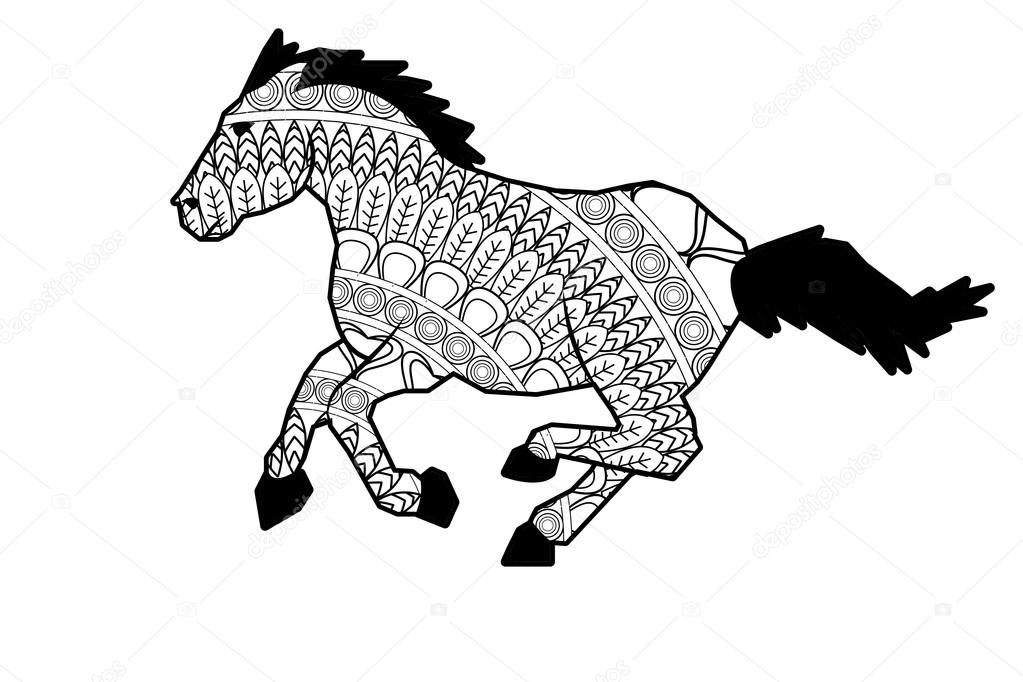 Mandala Pferd Symbol Stockvektor 169 Jemastock 115250668
