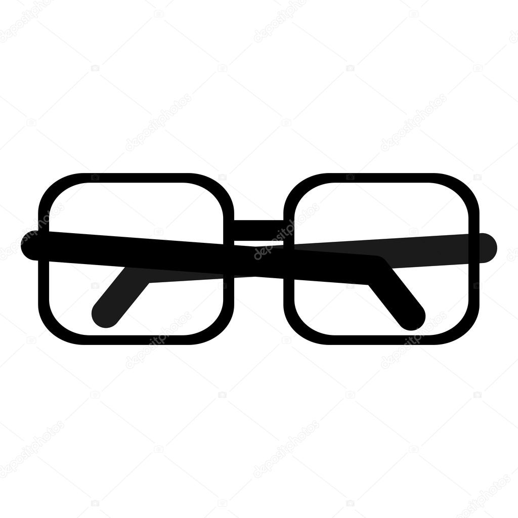 quadratischer Rahmen Brille Symbol — Stockvektor © jemastock #115795280