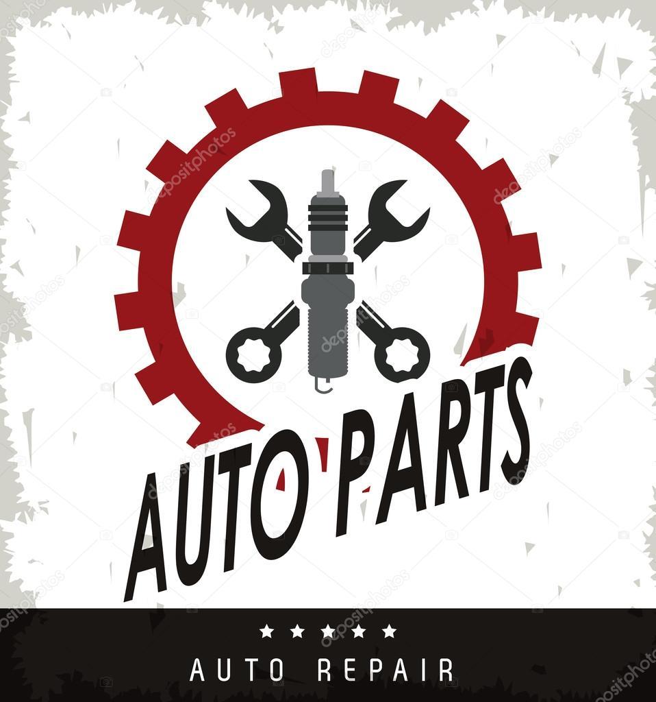 Maschine und Schraubenschlüssel-Symbol. Auto-Rahmen-Design ...