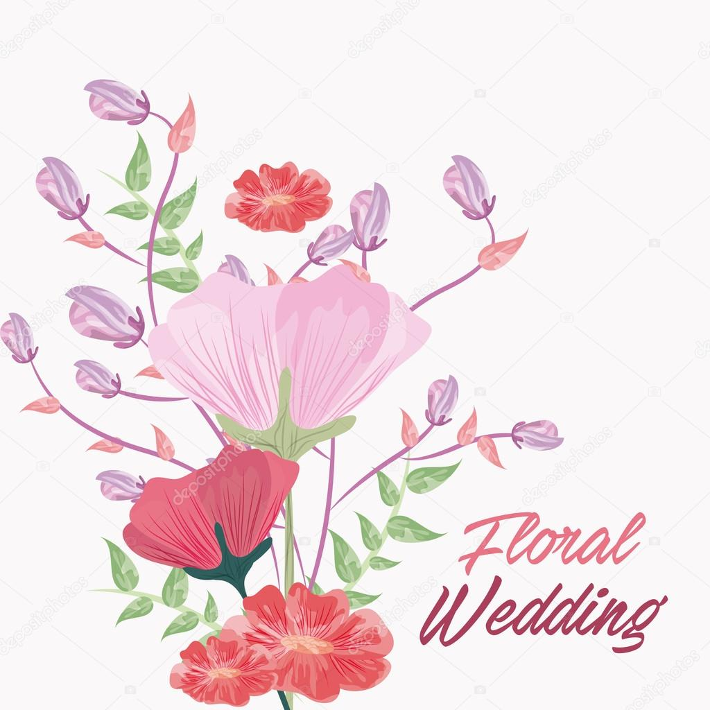 Drawing flower icon floral wedding design vector graphic stock drawing flower icon floral wedding design vector graphic stock vector mightylinksfo