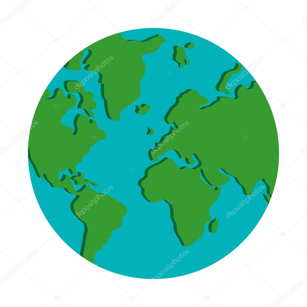 world map globe earth icon — Stockvr © jemastock #116003206 on