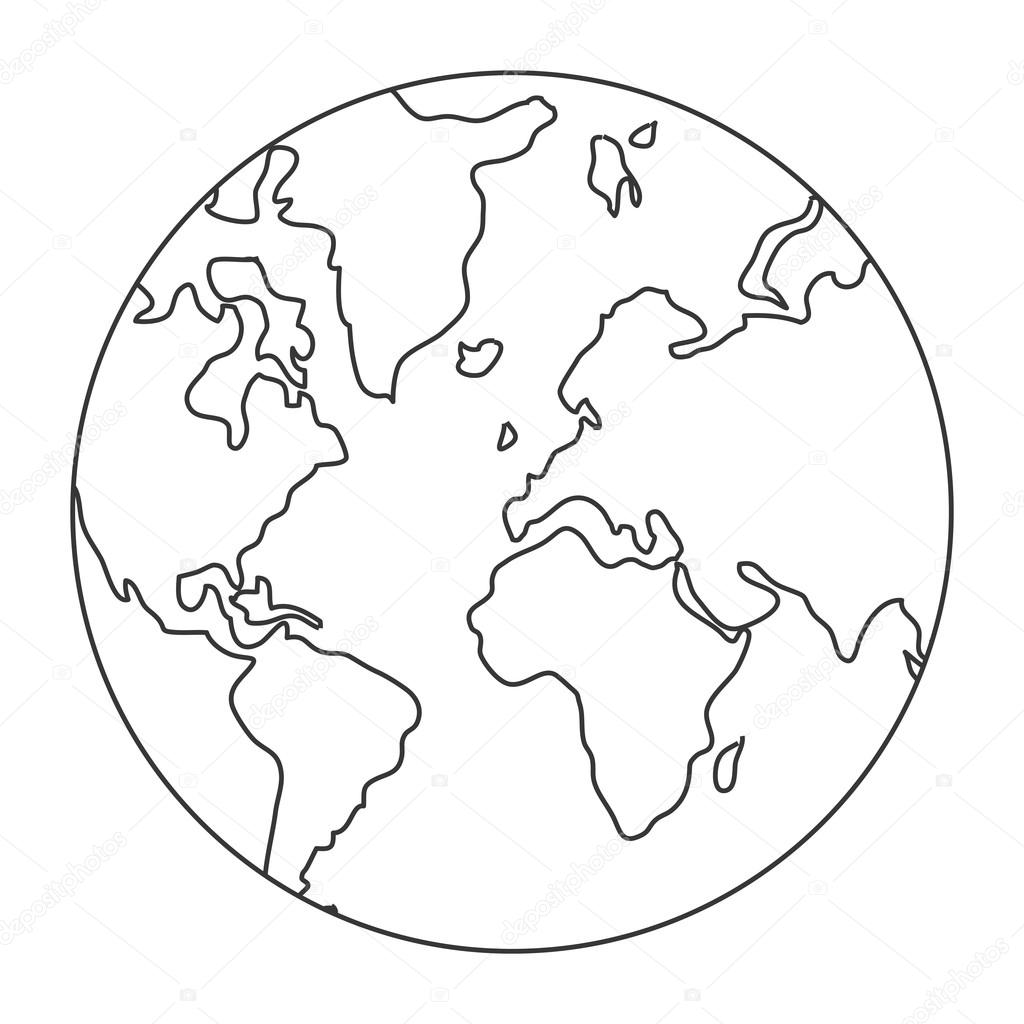 World map globe earth icon stock vector jemastock 116003562 world map globe earth icon stock vector gumiabroncs Gallery
