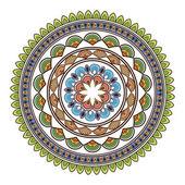 Mnohobarevná dekorativní linie mandala ikona