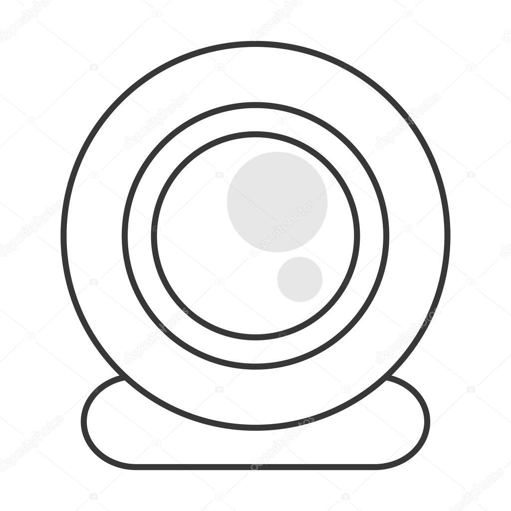 Icono De Webcam Solo Archivo Imagenes Vectoriales