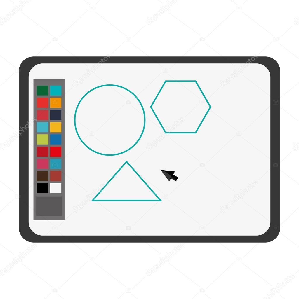 Software zeichnen Farben zeichnen Symbol — Stockvektor © jemastock ...