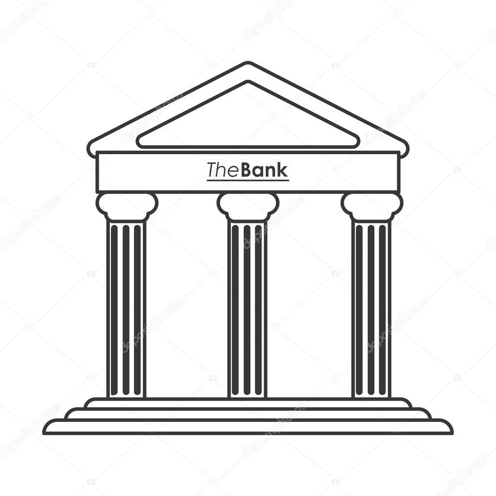 Ancient Greek Building Icon Line Design Stock Vector 116067406