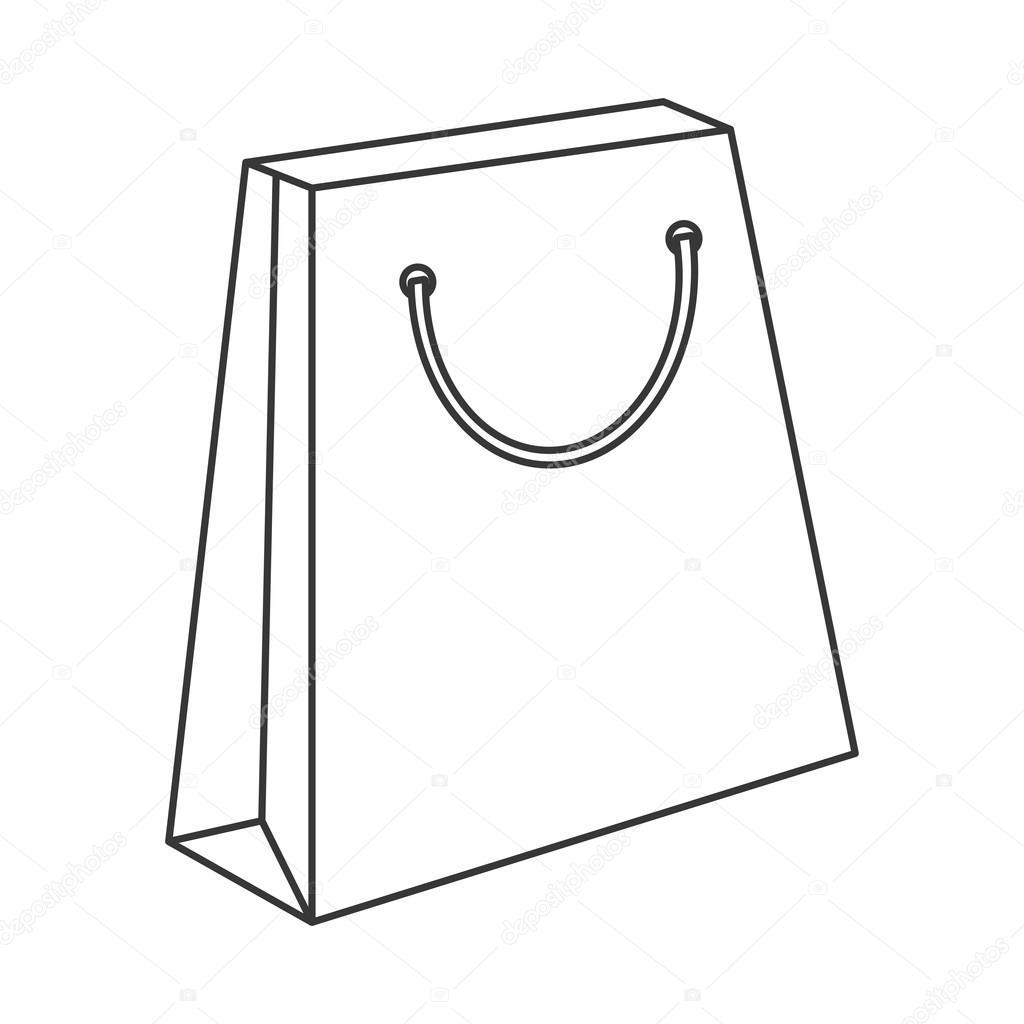 Shopping Bag Icon Line Design Stock Vector Jemastock 116067712