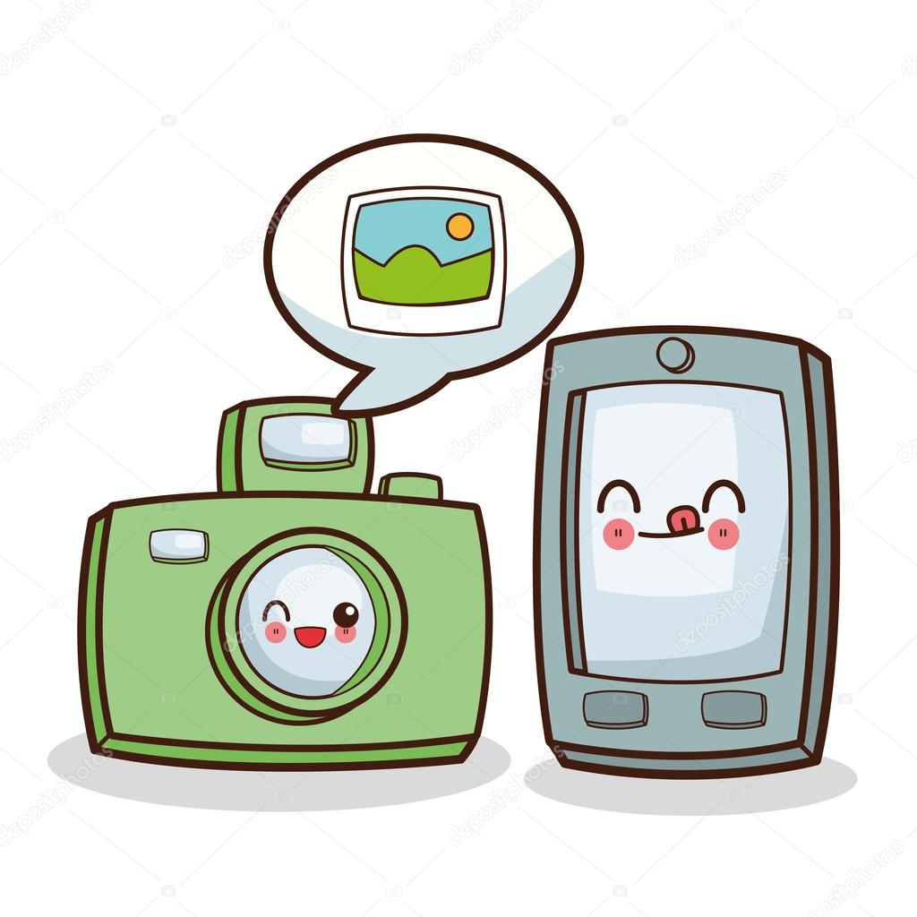 kawaii dibujos animados medios de comunicaci n social y