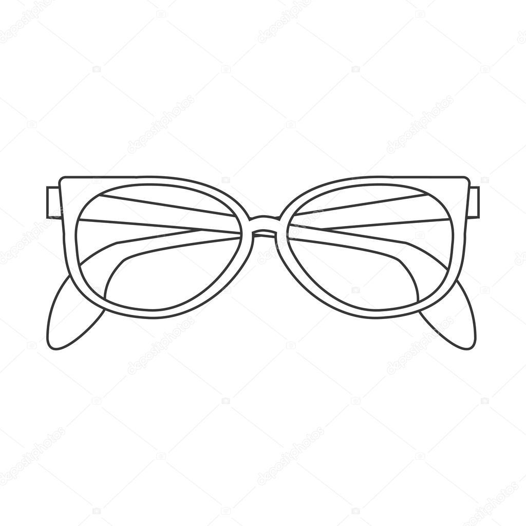 de49de3775 icono de gafas de sol lindo — Vector de stock © jemastock #116545642
